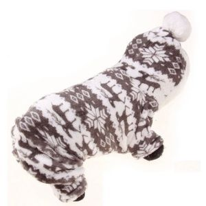 Doggie grey & white onesie